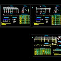 四级公路C级波形梁护栏CAD图(2018年)