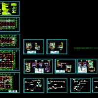 地下车库防排烟CAD设计图(通风工程课程设计)