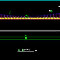66.5m人行悬索桥CAD设计图纸