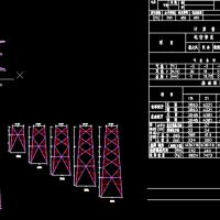 国家电网110KV角钢塔架设计施工CAD图