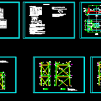 18m烟囱塔架结构设计CAD图(带说明)