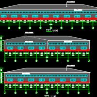 24米跨L型厂房四坡屋面钢结构厂房建筑及结构全套图纸(独基)