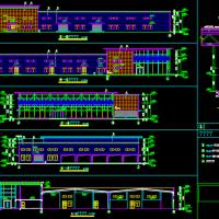某地带夹层汽修厂房建筑设计施工图