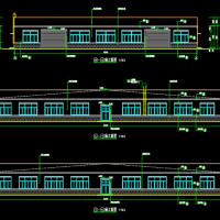 山东18X3米跨铝合金加工厂房建筑设计图纸