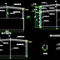 一层门层钢架结构12m跨钢结构厂房结构图