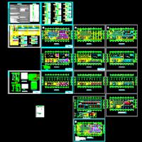 某甲类厂房电气设计及火灾自动报警系统设计施工图纸