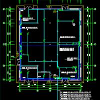 甲类厂房电气设计及火灾自动报警系统设计CAD施工图