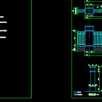东营某围墙建筑及结构设计CAD施工图