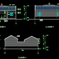 单层小祠堂建筑设计CAD施工图纸
