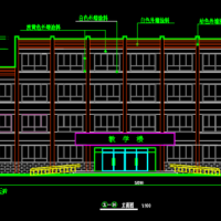 甘肃2213平米四层框架教学楼建筑设计CAD施工图纸