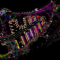 港口游艇码头总平面规划设计cad图