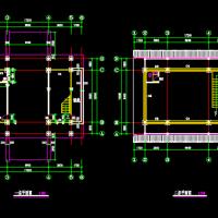 中式仿古建筑CAD平立剖图