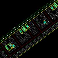 某地地上停车楼建筑平面布置方案图