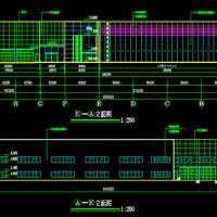 东风日产专营店建筑CAD图纸