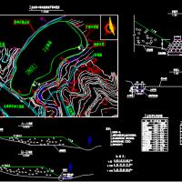 水利工程小型渣场处理布置CAD图纸