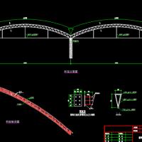 24米两联跨管桁架排架结构大棚结构图(桁架大棚)