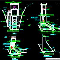 水利工程大坝布置及结构设计节点详图(闸墩 溢洪道等)