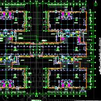 长沙36136平米多层框架结构厂房建筑及结构全套设计图(人工挖孔桩)