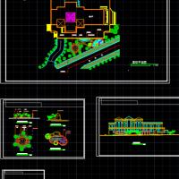 三角绿地景观设计详图