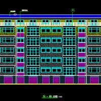 2486平米六层框架结构住宅楼毕业设计图纸(带计算书)