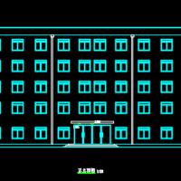 4352平米5层框架办公楼建筑结构课程设计图纸