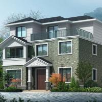 11.5X10.1三层农村自建别墅建筑及结构图纸