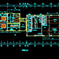 加氯投药间平剖面CAD图