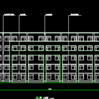 吉林6234平米5层教学楼建筑设计CAD图纸