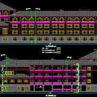 南方25631平米小学四层教学楼建筑结构全套图纸(含地库人防)