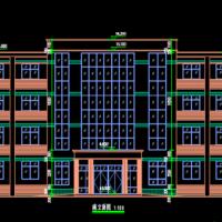河南2985平米四层框架结构社区服务中心建结水电暖全套施工图