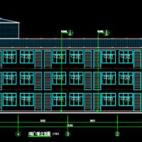河南1284平米三层养老院建结水电暖全套施工图