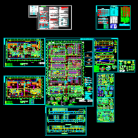 10019平米地下汽车建筑设计CAD图纸带人防(复式车位)