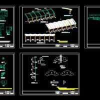 空间膜结构车棚施工图纸