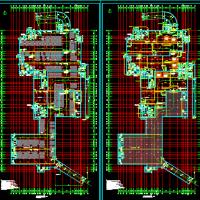 苏州某小学9064平米地下汽车库建筑及电气CAD图(含人防带移动电站)