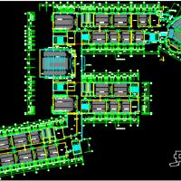辽宁某大学五层框架结构商学院教学楼建筑施工图(共48张)