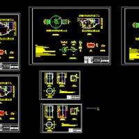 多套沼气池设计CAD施工图