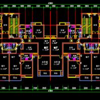 收集的高层常用户型大全CAD图