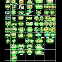 多层及小高层一梯两户户型大全CAD图