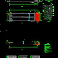 网格絮凝池与平流沉淀池CAD图纸