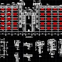 3294平米5层框架综合教学楼建筑结构施工图纸