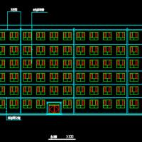 5300平米六层框架结构教学楼建筑图结构图纸(带计算书)