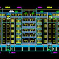 重庆某小学教职工宿舍楼施工图(3811平米)