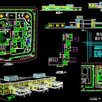 某6班幼儿园课程设计方案CAD图