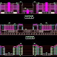 六层框架结构连体宿舍楼建筑设计方案图