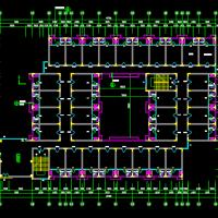 集体宿舍平立剖建筑方案CAD图纸