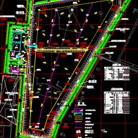 平原型垃圾填埋场总平面布置图