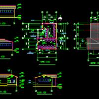 冲槽式水冲厕所建筑设计图纸