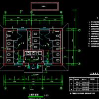 9X5.4米一层层56平安陵园公厕建筑图