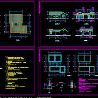 11.1X10.2米 1层仿古砖木结构墓区公厕建筑及结构图(87平米)