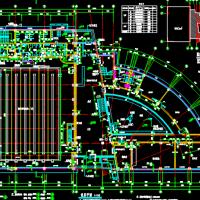 14690平米3层框架结构学校体育馆全套施工图纸(含建筑结构水电 游泳篮球)